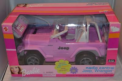 Pink 2001 Barbie Radio Control Jeep Wrangler in Box Unopened Sealed 67262