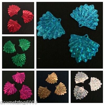 Sequins Fan Shell 20mm Gold Silver Red Blue Green Pink Laser 3/4in Choose Color