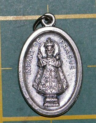 INFANT OF PRAGUE Medal Pendant, SILVER TONE, 22mm X 15mm, MADE IN ITALY