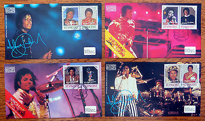 St VINCENT 1985 Michael Jackson Set of 4 FDC's NEW LOWER PRICE FP4537
