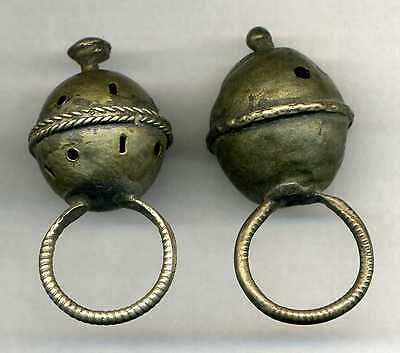 2 old Silver Moroccan Berber tribal ring hair ornament