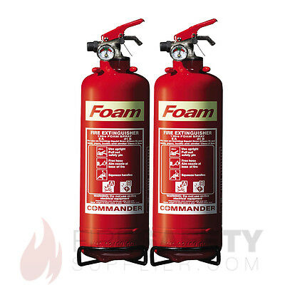 NEW 2 x 1 LITRE FOAM (AFFF) FIRE EXTINGUISHER - FAST SHIPPING