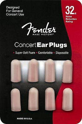 Genuine Fender® disposable 32dB Concert earplugs, 4 pairs 099-0541-000