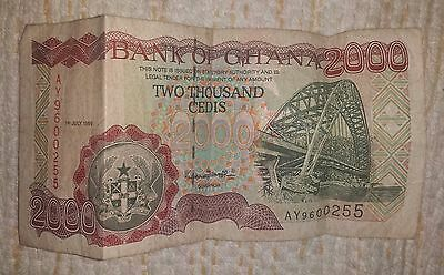 Old currency of Ghana (2000 Cedis)