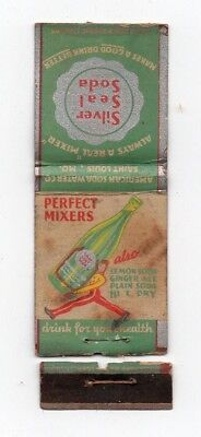 Old Matchbook Cover Silver Seal Soda American Water Co. Saint Louis Mo. Drink 4