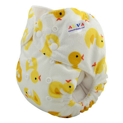 Alva Baby One Size Pocket Cloth Diaper Washable Reusable New Nappy +1Insert