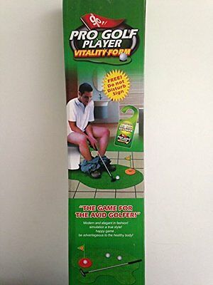 JL Golf Toilet Bathroom mini set funny potty putter trainer fun novelty gift