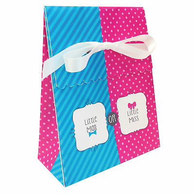 Party Bags x12 Gender Reveal Party Neutral Unisex Bow or Bowtie Party Bag