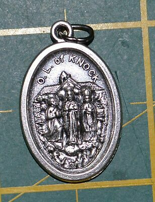 OUR LADY OF KNOCK Medal Pendant, SILVER TONE, 22mm X 15mm, MADE IN ITALY