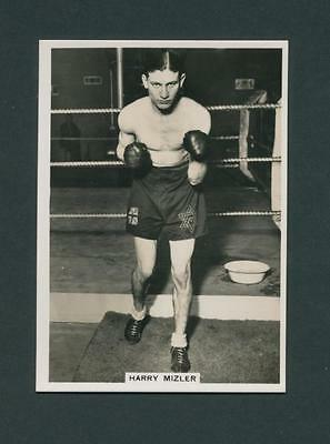 Harry Mizler Vintage 1930S Original Real Photo Boxers Cig Card Boxing