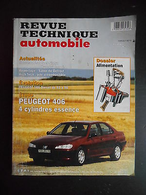 Revue technique automobile n°592 02/1997 Peugeot 406 essence