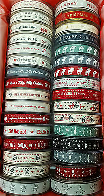 Christmas Ribbon 15mm Width Berisfords a  Great Selection 4 length 1m to 20m
