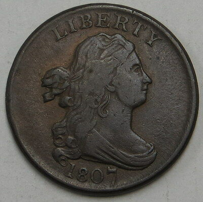1807 Draped Bust Half Cent ungraded