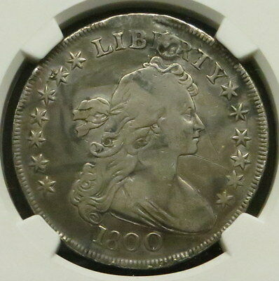 1800 Heraldic Eagle Silver Dollar, NGC Certified VF DETAILS