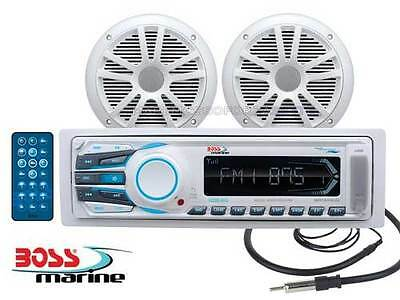 Radio Stereo Barca Marinizzato Boss Marine Mr1306 Kit Casse Receiver Package