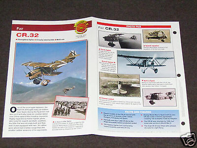 FIAT CR.32 CR32 Airplane Photo Spec Sheet Booklet Brochure