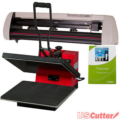 Contour Cut Vinyl Cutter + Heat Press Machine, Decal/Sign/Tshirt Making BUSINESS