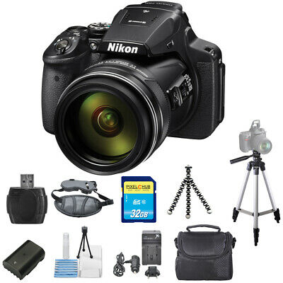 Nikon COOLPIX P900 16MP Digital Camera (Black) STARTER BUNDLE BRAND NEW