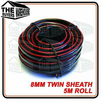Twin Core 8Mm Cable 5M Battery Caravan Trailer 4X4 12V Wire Sheath 2 Solar 8 Bns