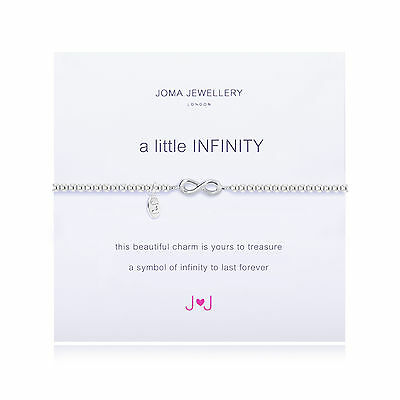 Joma Jewellery a little infinity silver plated bracelet looped symbol & Gift bag