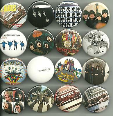 The Beatles Album Cover Collection 1.5 inch Pins Buttons Magnet Set