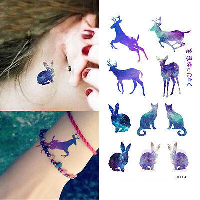 New Waterproof Temporary Arm Tattoos Elk Tattoo Sticker Removable Body Art
