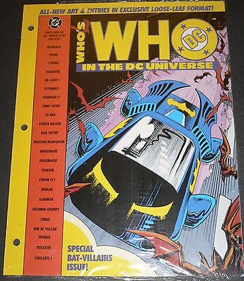 Who's Who in the DC Universe 48 Page Loose Leaf #5 Dec 1990 VFNM Sandman Penguin