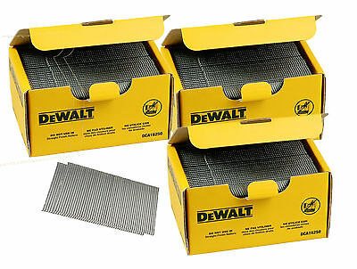 3 boxes (7500) DEWALT DT9904 63MM 16 guage ANGLED FINISH NAILS FOR DC618