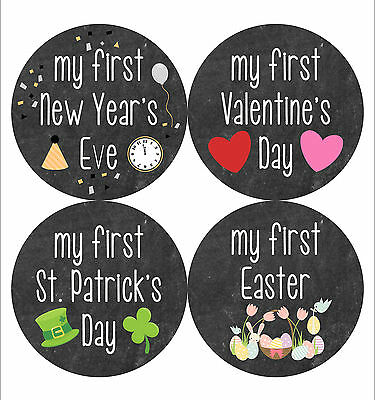 Baby Milestone Stickers Holiday Edition Baby's First Holiday Monthly Baby
