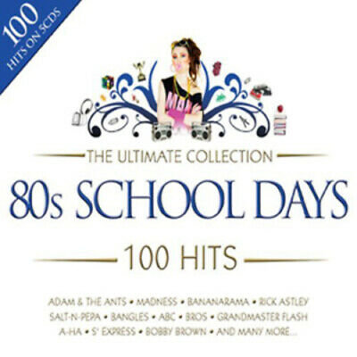 Various Artists : The Ultimate Collection - 80s School Days: 100 Hits CD Box