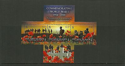 Pitcairn Islands- Sgms910 Centenary Of Ww1 Minisheet  Mnh