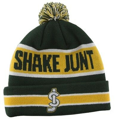 Shake Junt BAY POM Skateboard Beanie GREEN/YELLOW/WHITE