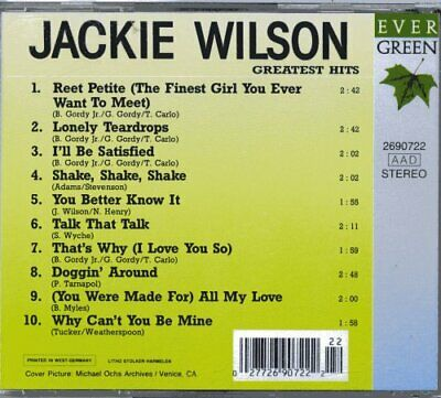 Greatest Hits Wilson Jackie CD Value Guaranteed from eBay's biggest seller!