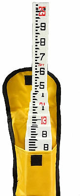 New 25 Foot Telescopic Fiberglass Survey Grade Rod in Tenths with Carrying Case