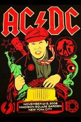 AC/DC CONCERT SHIRT Madison Square Garden Nov. 12/13 2008 , XL NEW MINT . Rare