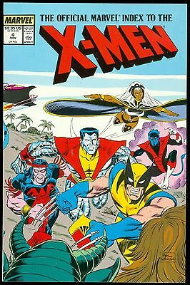 X-MEN, The Official Marvel Index To The #4, Marvel Graphic Novel 1987 LOT of 10