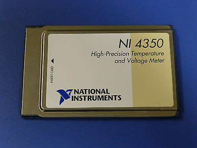 National Instruments NI DAQCard-4350 PCMCIA Temperature / Voltage Meter Card
