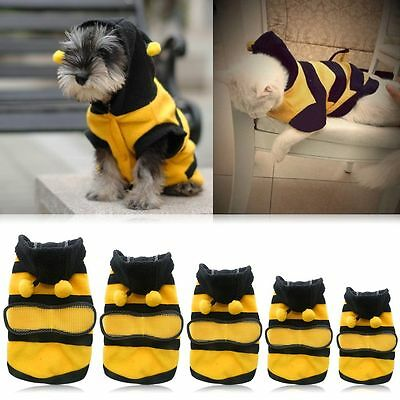 Dog Cat Pet Apparel Coat Hoodie Costume Outfit Clothes Puppy Fancy Cute Bee New