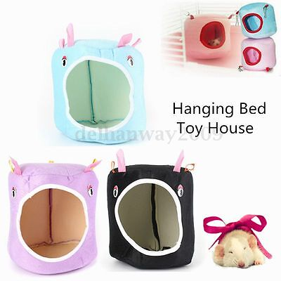 Cute Hammock for Ferret Rabbit Rat Hamster Parrot Squirrel Hanging Bed Toy Hous