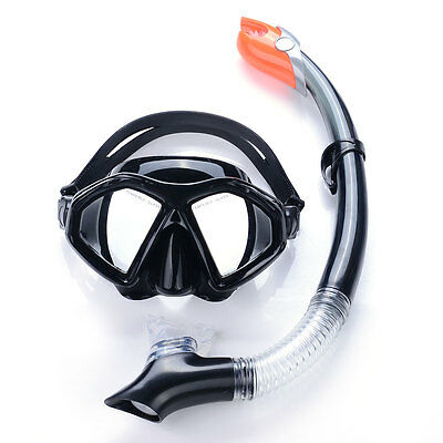 Mask & Snorkel Set Snorkeling Mask  Semi Dry Top Tempered Glass for Adult