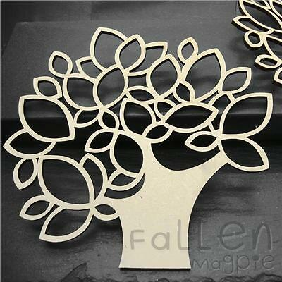 Wooden Tree Shapes Family Decorations Wedding MDF Wood Craft Blanks 300mm