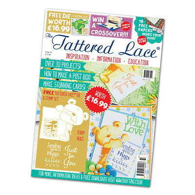 Tattered Lace Magazine Issue 37 With FREE Teddy Hugs Die & FREE 1st Class UK P&P