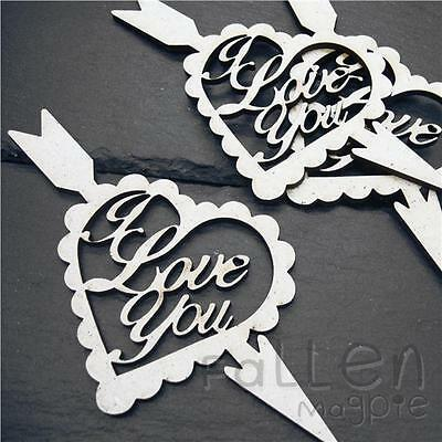 Wooden I Love You Heart Shapes Decoration Craft Wood MDF Blanks