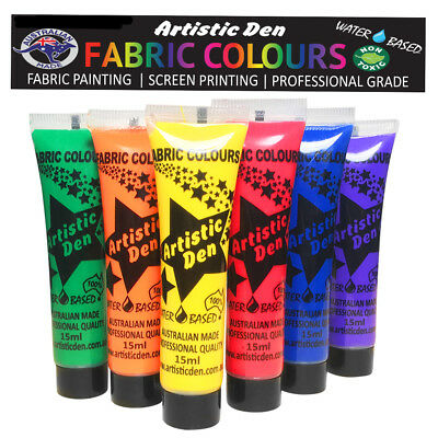 Mardi Gras Fabric Paint Textile Paint Fabric Printing 6 x 15ml By Artistic Den