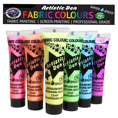 Fabric Paint Textile Paint Pearl Metallic Fabric Paint 6 x 15ml Permaset Comp