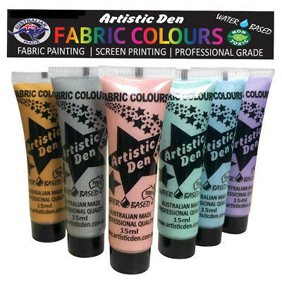 Metallic Fabric Paint Metallic Textile Paints  6 x 15ml Permaset Comp