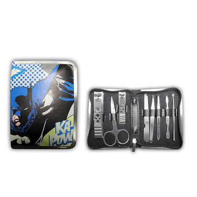 OFFICIAL DC COMICS BATMAN 8 PIECE MANICURE SET - Official Mens Retro Gift