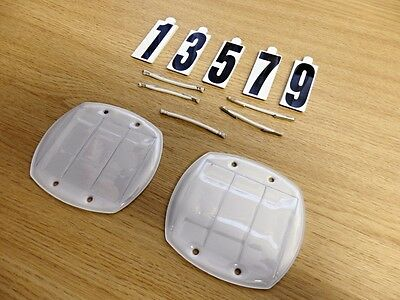 NEW Shires Bridle Competition Number Kit - 2 x Holders & 4 x Sets Of Numbers