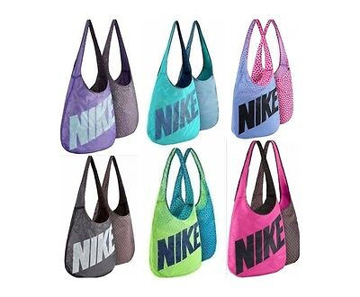 Nike Women's Graphic Reversible Tote Mesh Beach Gym Shoulder Bag Ba4879 Nwt