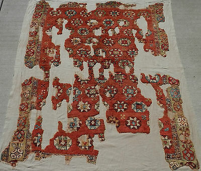 """18thC to Ca 1800. SW Anatolian CAL (Chal) """"YATAK"""" Carpet Fragment. Now Conserved"""